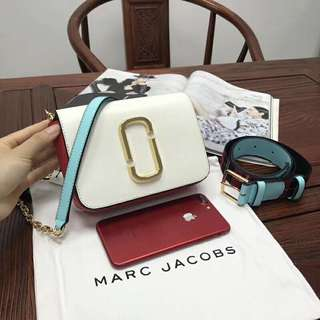 Marc Jacobs 2018最新款 多色拼色 可做手提包 單邊揹 斜揹 腰包 MJ 連塵袋