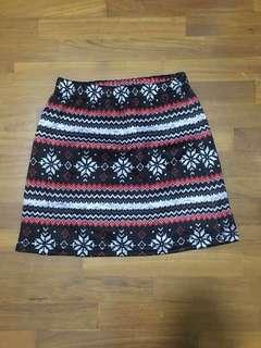 BN Winter Print skirt