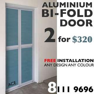 Full Set Aluminium Bi-Fold Door