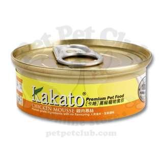 (84罐原箱優惠) Kakato 雞肉慕絲 40g (貓狗共用)