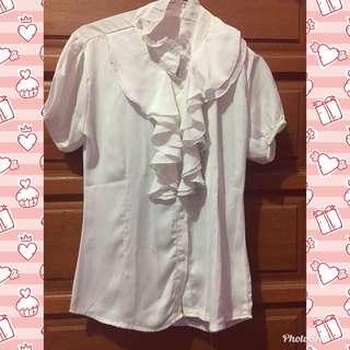 Tshirt white renda