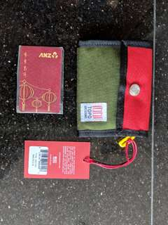 Topo Design Snap Wallet Olive Green / Red / Yellow