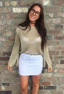 Sportsgirl Gold Mesh Jumper