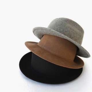 🚚 100%羊毛呢紳士帽(卡其)(男女皆適合)