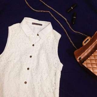 White Sunday Collared Dress