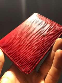 Louis Vuitton (LV) red epi cardholder