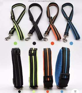 Adjustable Dog Collar & Leash