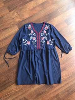 Embroidered Dress (zara look a like)