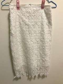 🚚 全新/pazzo蕾絲及膝窄裙