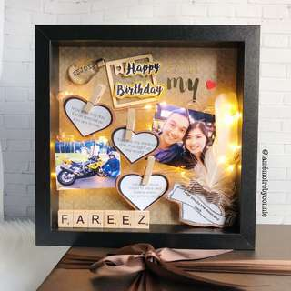 Personalised 3D Photo Frame (Love letter)