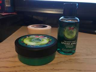 Body Shop Apple Spice body butter, Apple spice shower gel and butter butter