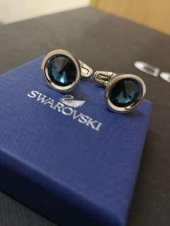 Swarovski Cufflink in Blue Crystal