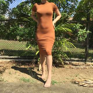Rust Bodycon Dress