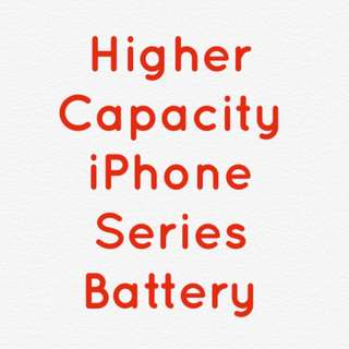 iPhone higher Capacity Battery 1 Year Warranty