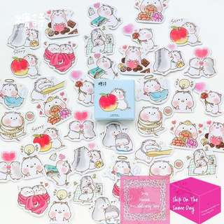 Set of 45pcs Cute Baby Hamsters Sticker Pack