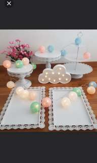 Dessert set cake stand for rent