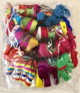 Colorful Handmade Elephant Decor Souvenirs (8 pcs)