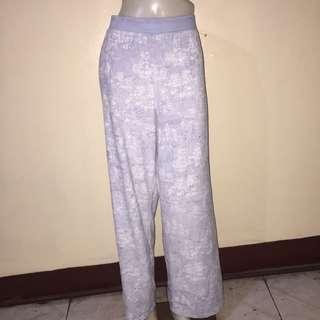 POWDER blue printed gartered pajama plus size xl
