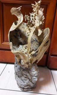 木石共生木雕(水世界)