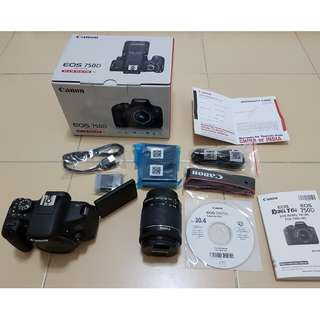 DSLR Canon EOS 750D Kit with lens EF-S18-55mm IS STM