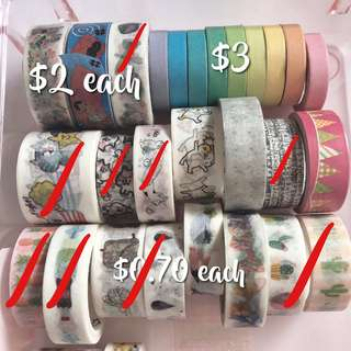 CLEARANCE washi tapes