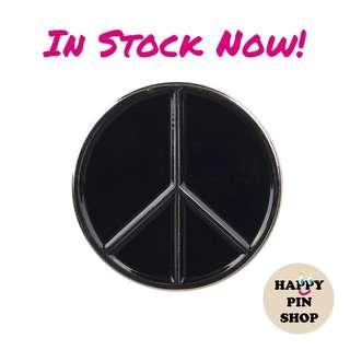 [IN STOCK] Black & Silver Peace Symbol Enamel Pin