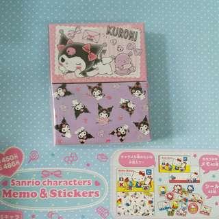 Kuromi memo紙及貼紙