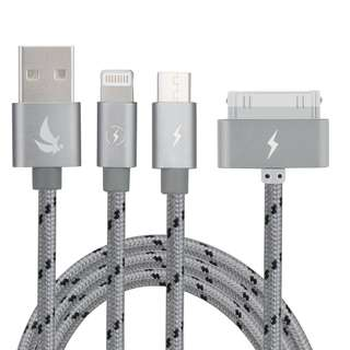 239. EliteSoft High Speed 4.9ft 3 in 1 Multiple USB Charging Cable with 8 Pin Lighting/30 Pin/Micro USB Connector