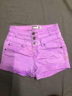 Cotton on colored denim shorts
