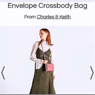 (Inc Postage)Authentic Charles&Keith Envelope CrossBeg#Ramadan50