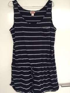 Blue strips jumpsuit