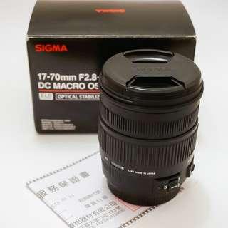 🚚 9.5新SIGMA 17-70mm f2.8-4過保公司貨(For Canon)