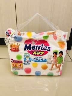Merries Pants Size XL (per pack 24 pieces)