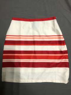 Plains and Prints striped red skirt