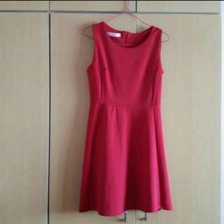 BN Red Skater Dress