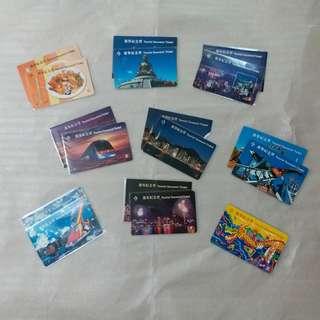 【興趣收藏】地鐵及九廣鐵路遊客紀念票:共9張