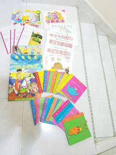 Assorted Chinese and English Books pre-schoolers to kindergarten
