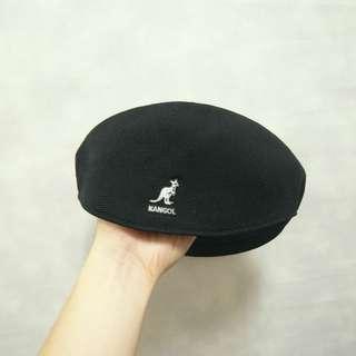 三件7折🎊 Kangol 袋鼠牌 貝雷帽 小偷帽 畫家帽 扁帽 老帽 薄款 黑 老品 M~L 電繡logo 稀有 復古 古著 Vintage