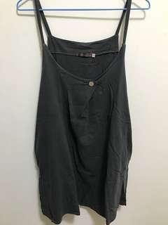 🚚 二手/墨綠背心裙 #五十元好物