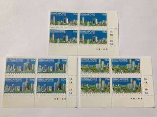 Singapore 1987 Skyline in blk of 4 mnh