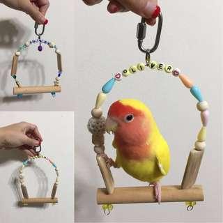 Handmade Birds Parrots Swings by [DoubleTonsil]