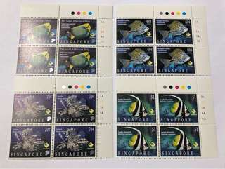 Singapore 1995 Marine fish in blk of 4 mnh