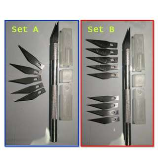 A set of Hobby / Craft / Sculpture  Knife or Cutting Tool