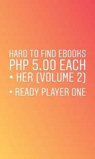 HER (volume 2) & READY PLAYER ONE (ebook)
