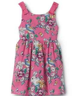 🚚 現貨 GAP 聯名款兔兔滿版蝴蝶結洋裝