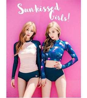Pink Navy Rashguard Swimsuit (XL size instock)