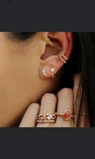7pcs / Set Bohemian Rings / Earrings