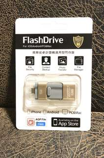 iPhone android 電腦3合1擴容器FlashDrive