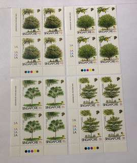 Singapore 1996 Trees in blk of 4 mnh
