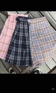 (PO) Checkered Tennis Skirt